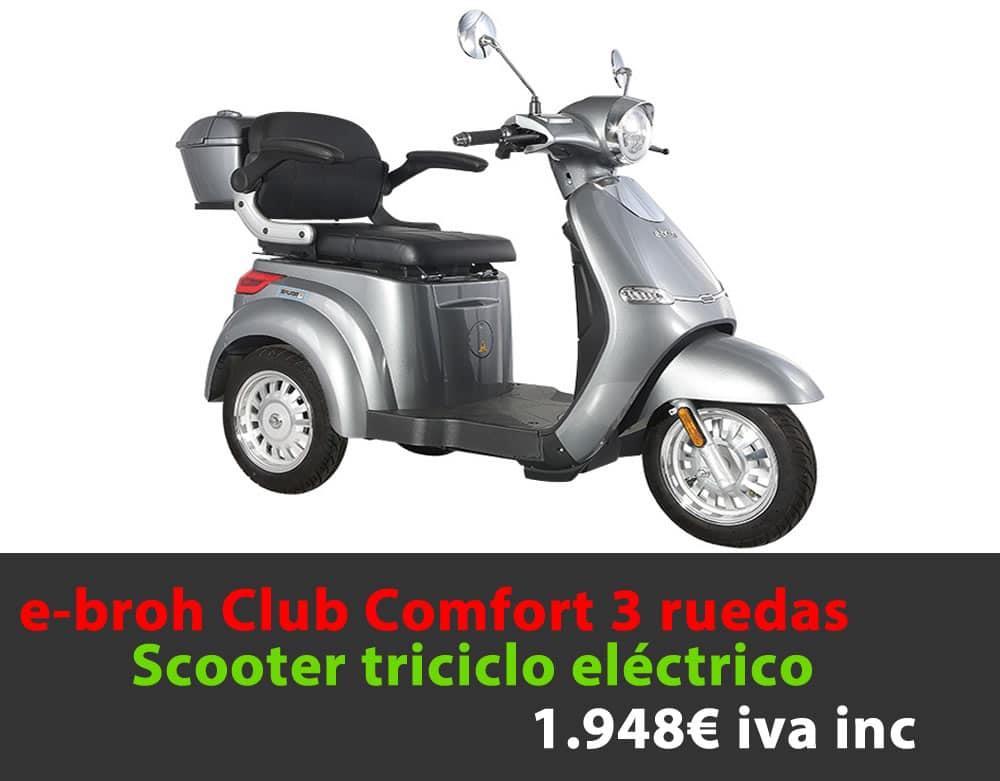 e-broh Club Confor triciclo 1.948€ iva inc