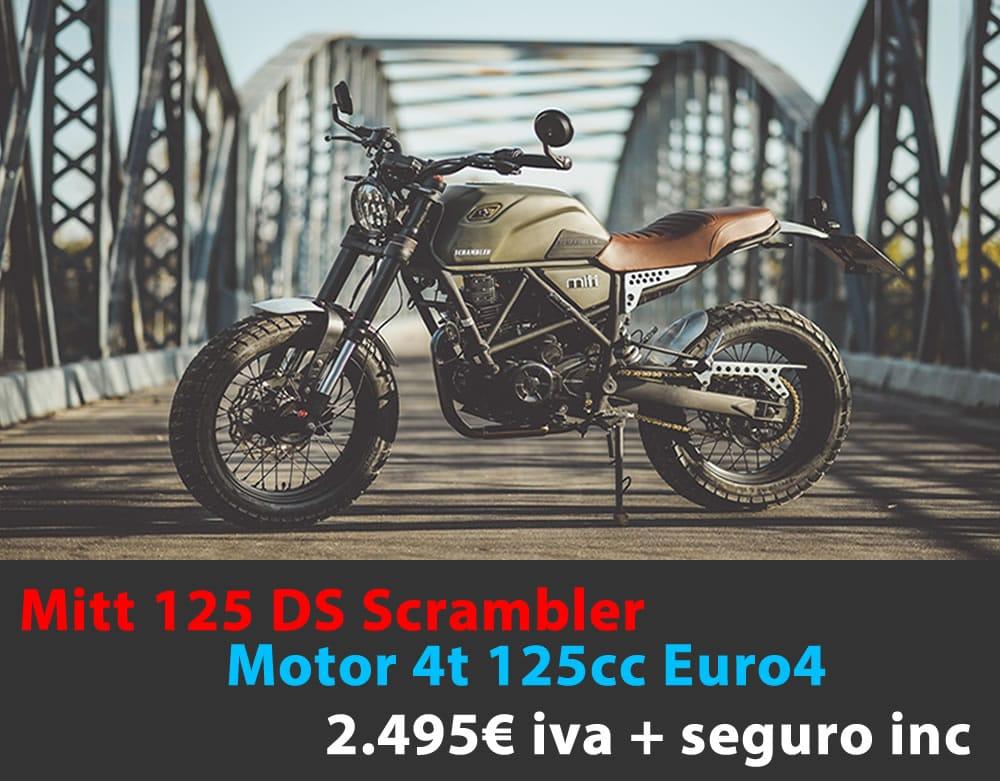 Mitt 125 DS Scrambler 2.495€ iva + seguro incluido
